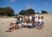 group picture at natural bridges state beach