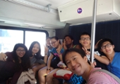students riding the Santa Cruz County metro bus