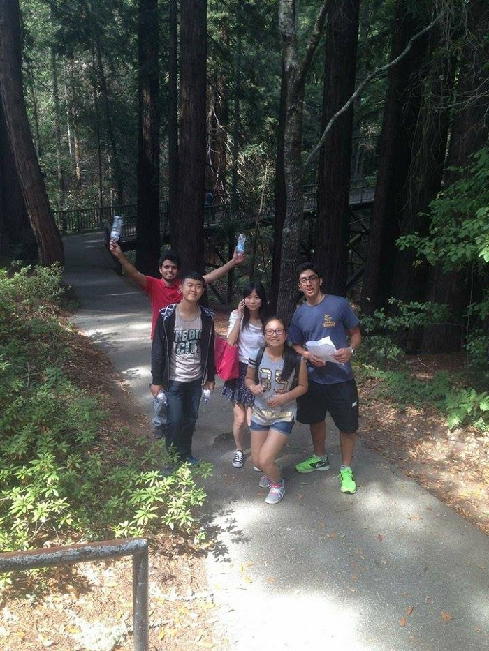 students exploring the UCSC campus